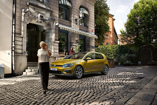 The New Golf 2017 on a street