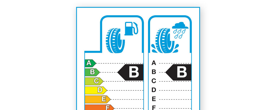 The latest tyre label shown in an image