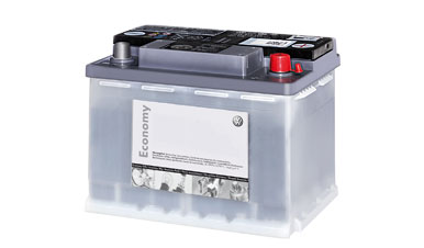 A Volkswagen genuine replacement battery