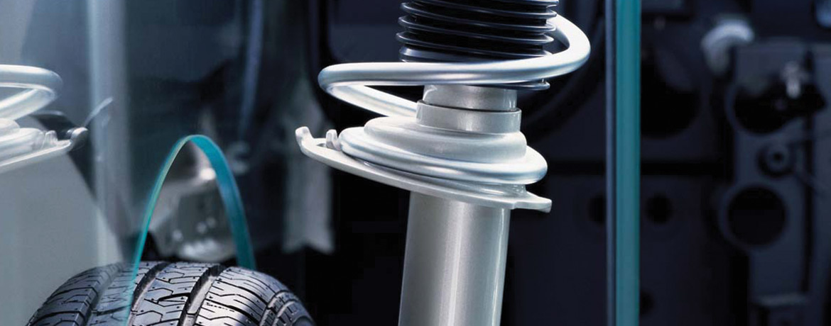 Shock absorber in a Volkswagen