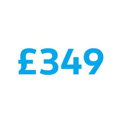 £349 price
