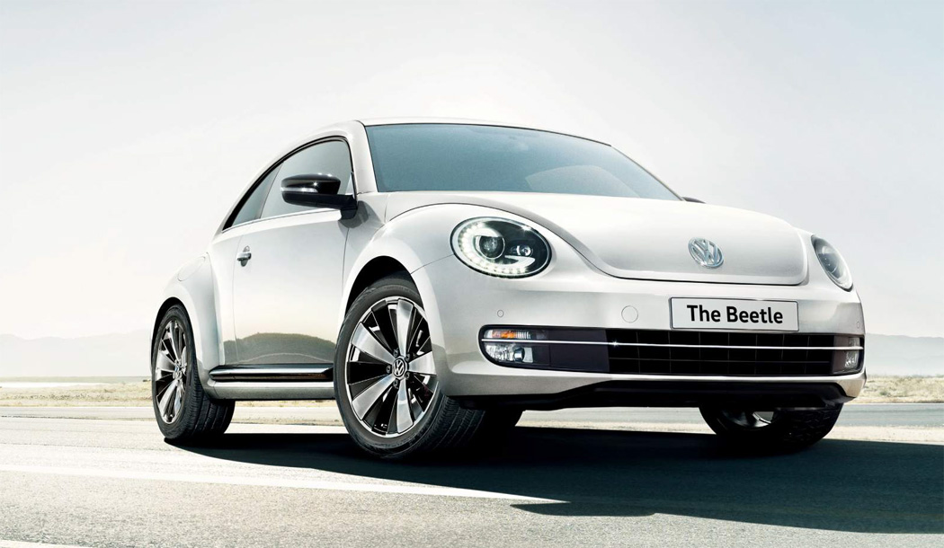 Used Beetle in white