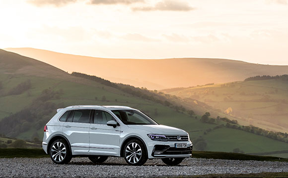 Tiguan on the hilltop