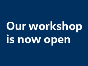 Our workshop is now open